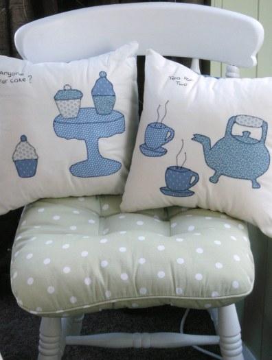 Tea-Time Applique Cushions