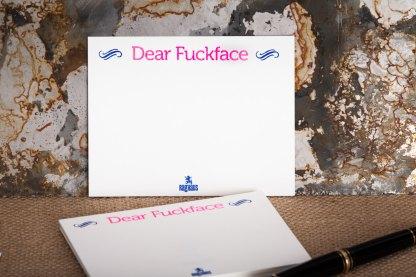 "Raghaus Studios ""Dear Fuckface"" notecards"