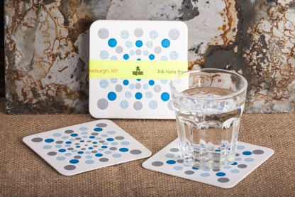 Raghaus Studios Graphic Design Dottie Beverage Drink Coaster