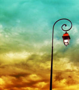 Clouds and Lamp Post
