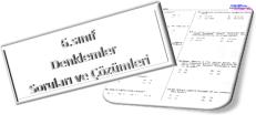 6.sınıf eşlik denklem soruları ve çözümleri indir