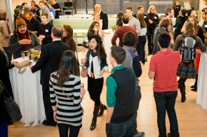 The crowd at the Ragon Open House