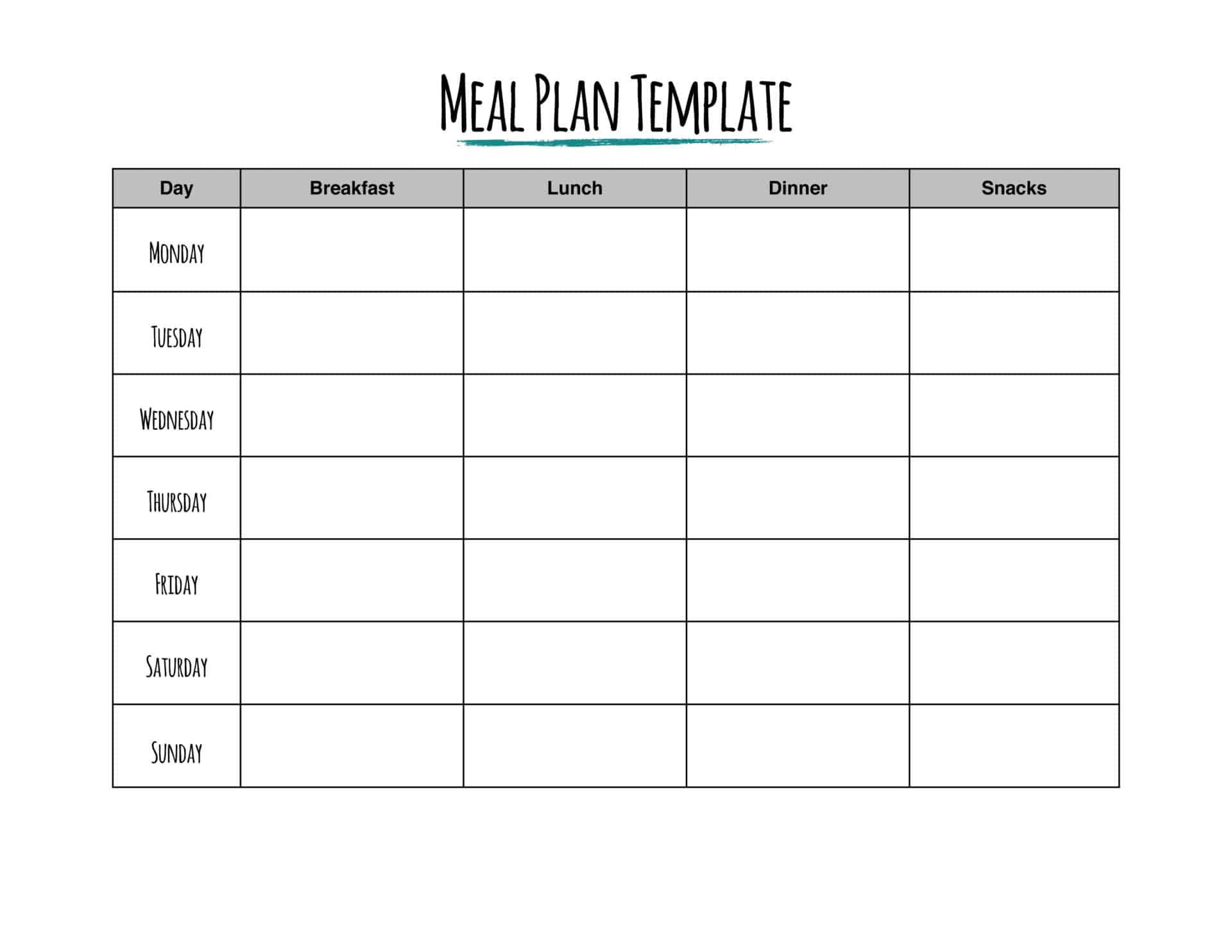Hungry For Savings Try A Meal Plan