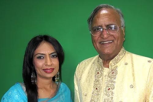 Roop Ghuman Nahil with Rahi Bains after a show on Venus TV