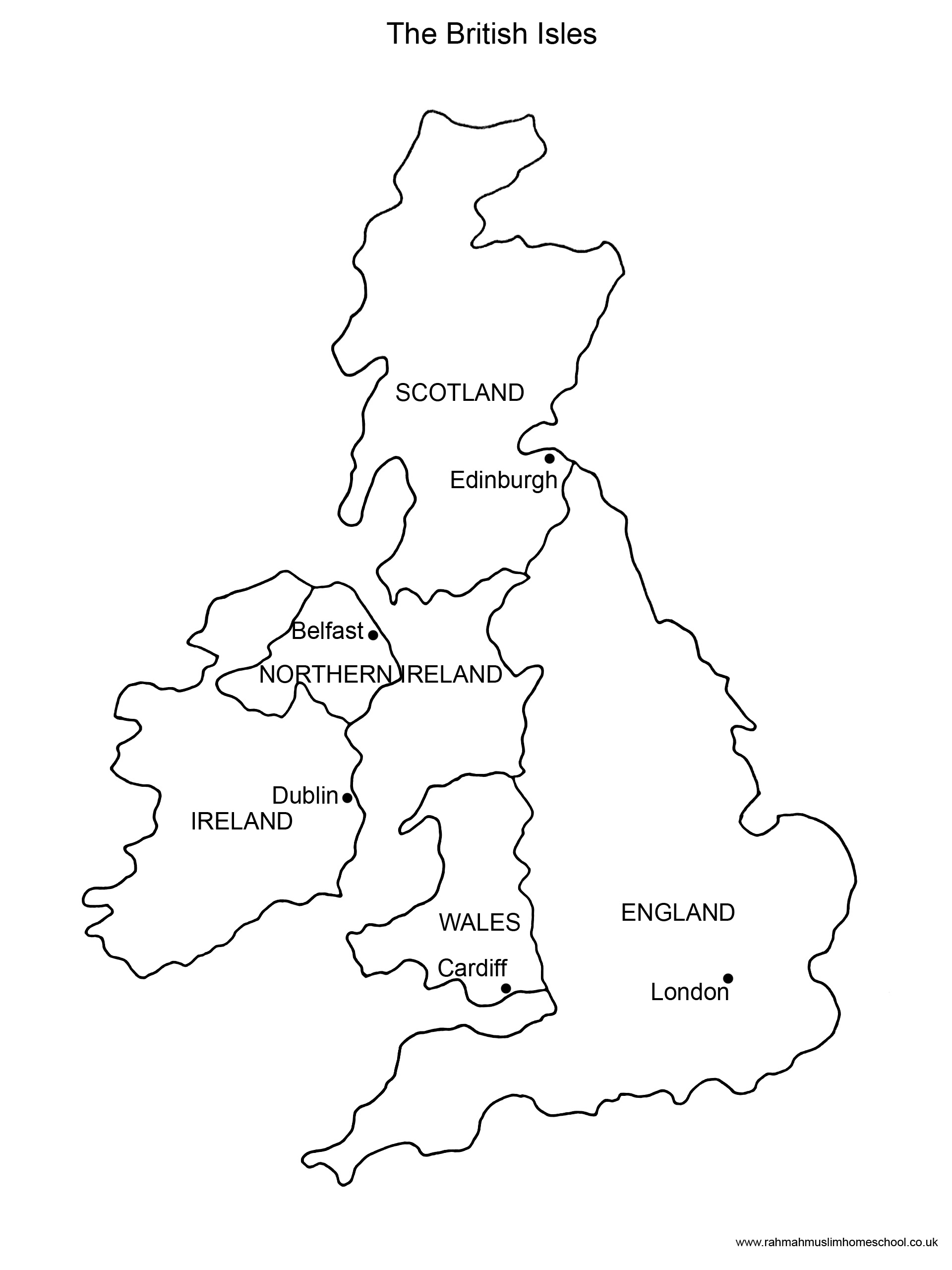 Map Of England Ks2