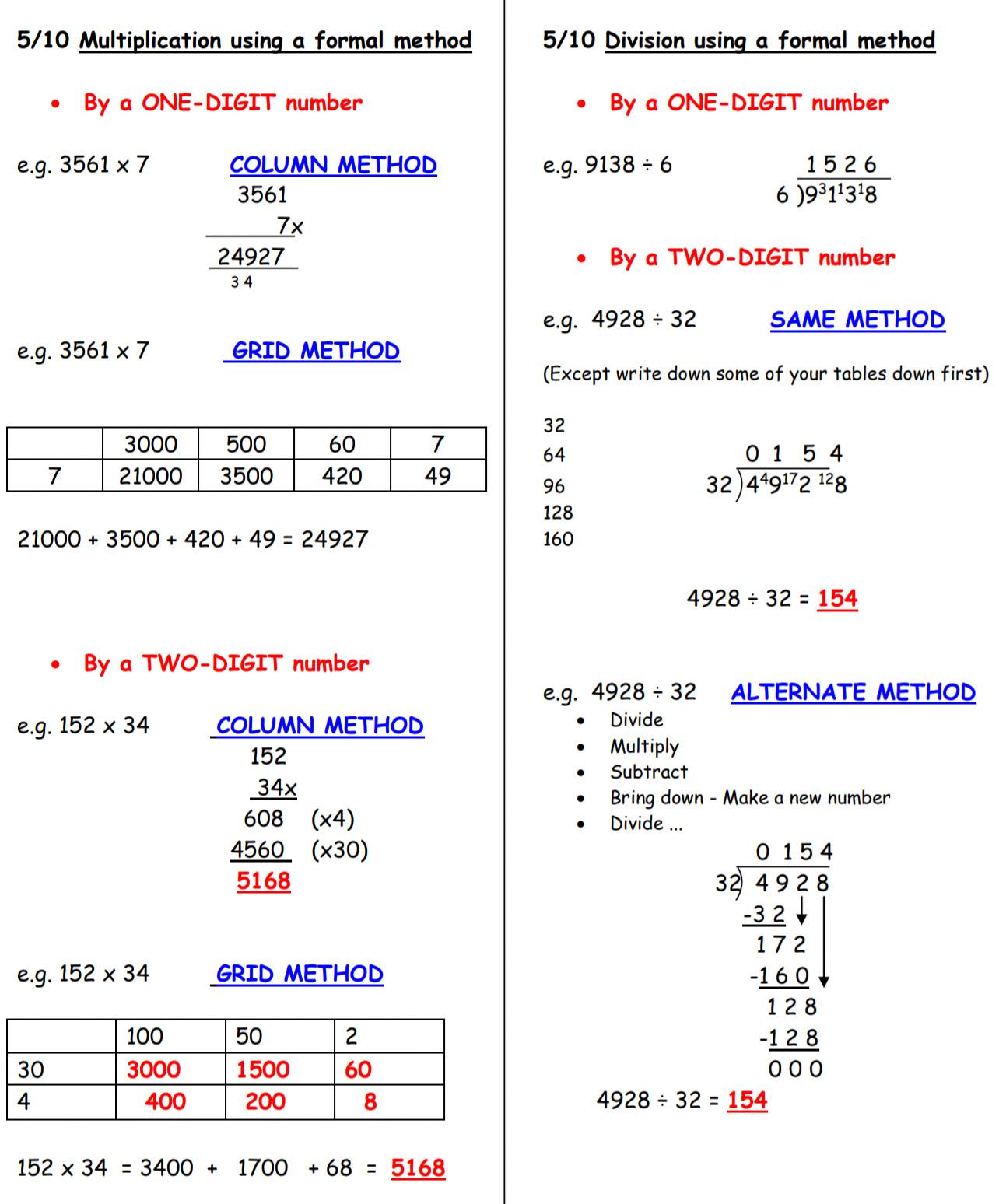 Year 5 Maths Curriculum
