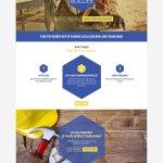 an html template for web builder website