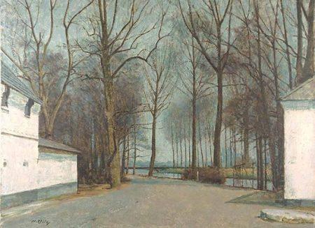 Winter am Düsseldorfer Rheinufer, Georg Grulich