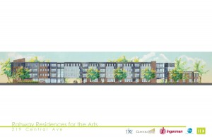 Rahway Residence for the Arts.Central Av elevation