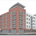 Rendering of corner of East Cherry Street and Monroe Street.