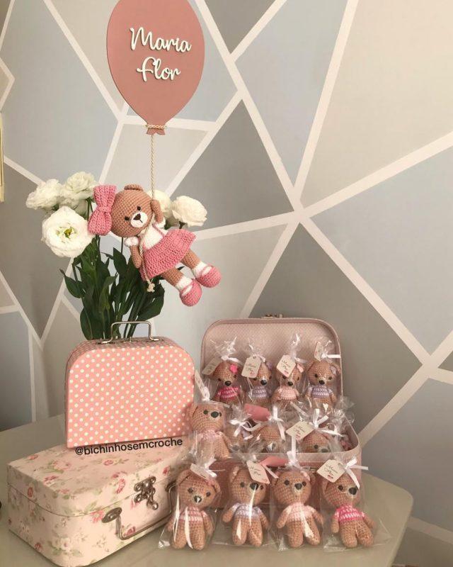 Porta Maternidade Balão e Lembrançinhas Maria Flor - Raiane Barros
