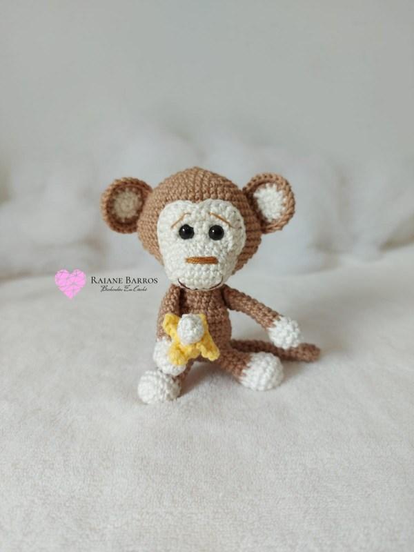 Capa Macaco Amigurumi Baby Rosi Barros