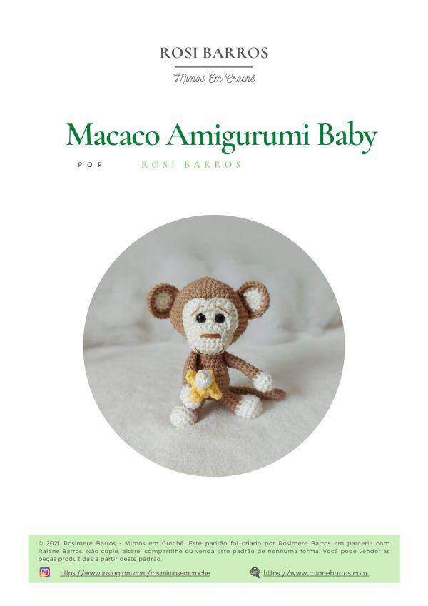 Macaco Amigurumi Baby by Rosi Barros