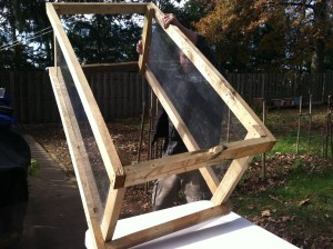 Building a cold frame/mini greenhouse.