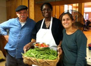 Nicole and Francisco with Chef Leslie at A Better World Cafe in the summer of 2012.