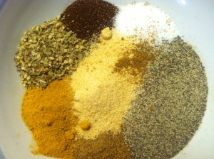 Spices used in homemade adobo