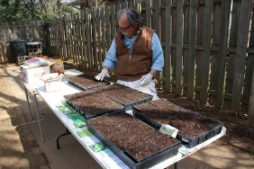 Over 35 varieties of herbs were planted over the weekend of the Spring equinox.