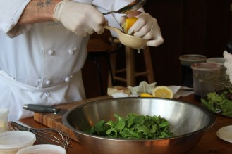 Salad #1: Arugula salad with lemon and parmasean