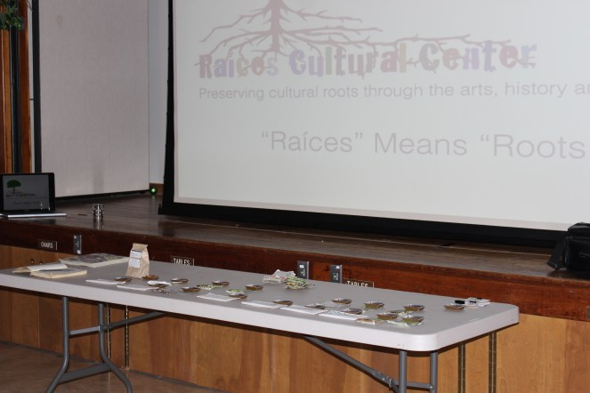 The Raíces EcoCulture Seed Library seed saving talk and demonstration set up at the 2016 Spring Renewal Fair in Rumson, NJ.