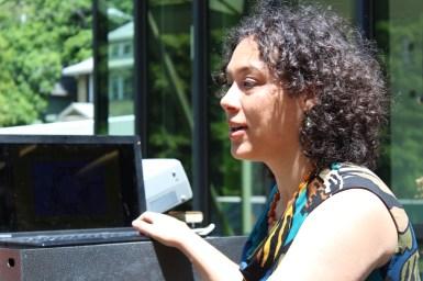 Workshop presenter Laura Waldman from Sun Blue Energy.