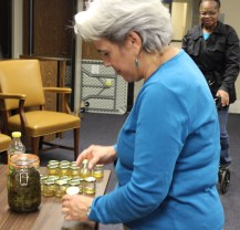 Participants choosing their sample oil and extract.