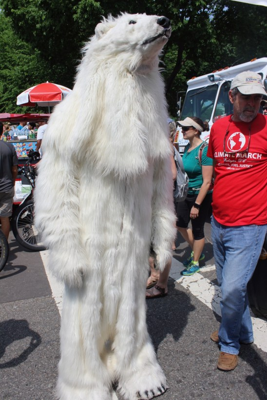 Even our animal relatives joined in the march.