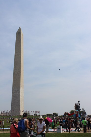 The march ended with speakers, music and gatherings at the Washington Monument.