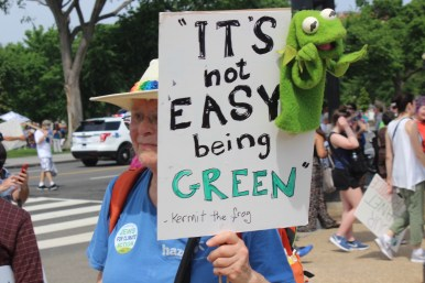 """It's not easy being green"""