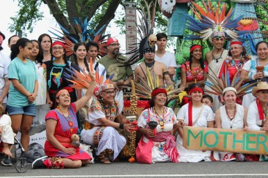 People from all cultures came together to fight for Earth Justice.