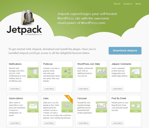 top 10 free wordpress plugins - jetpack