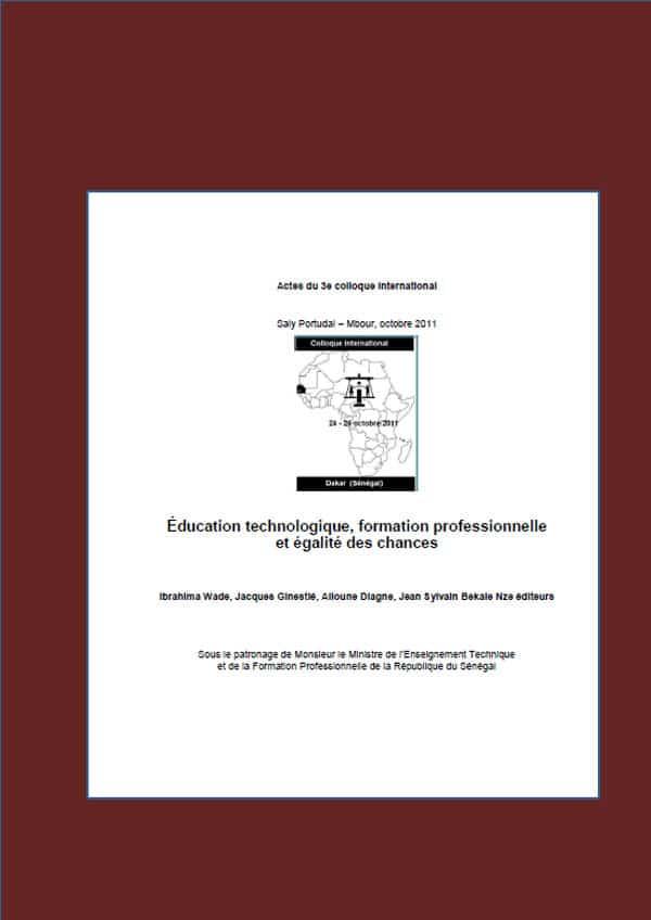 Actes du colloque international RAIFFET de Portudal Mbour au SENEGAL en octobre 2011