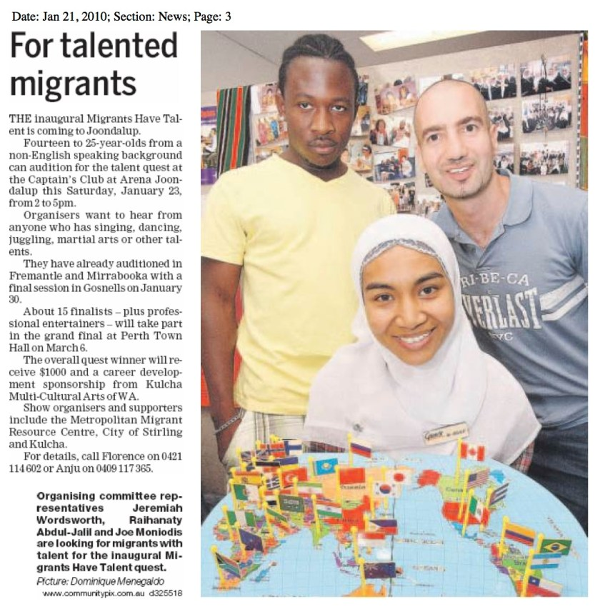 For talented migrants - Raihanaty A Jalil in Wanneroo Times