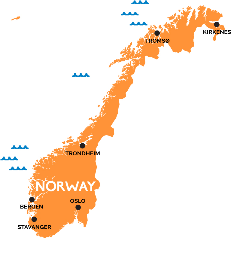 Image result for norway map