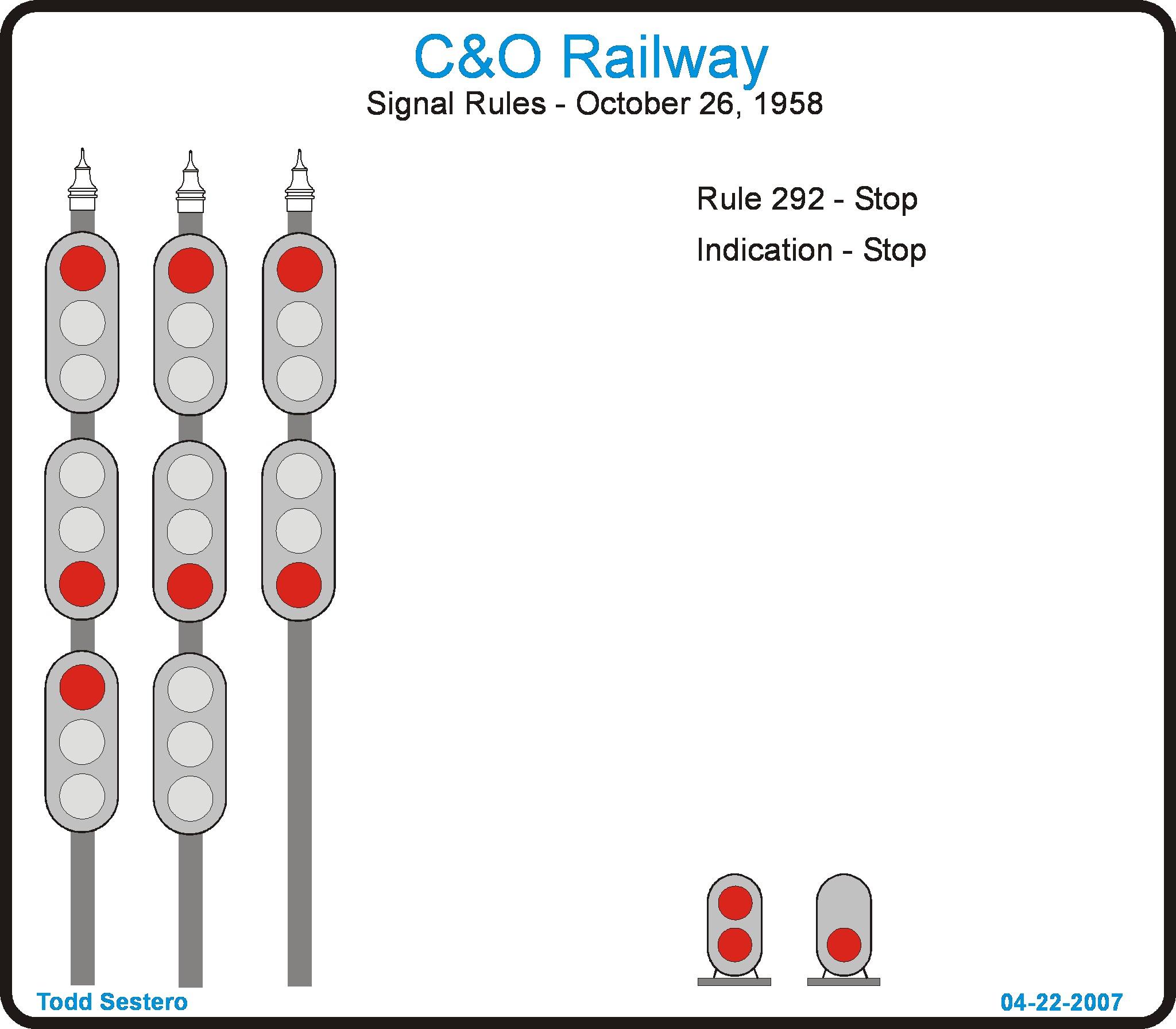 C Amp O Rwy Signal Aspects
