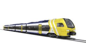 Stadler FLIRT train for Dallas, Texas