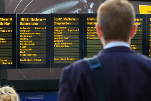 Rail engineering works cut