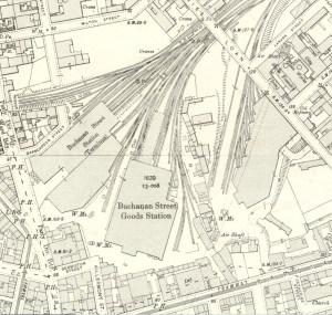 Map of Buchanan Street, Glasgow.