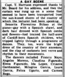 1934 newspaper article mentioning Carmen Rego