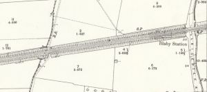 Map of Blaby station