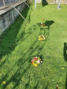 The Pilning men's grave sites today.
