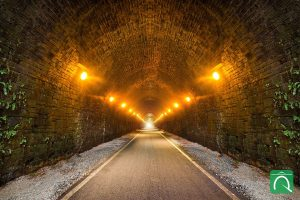 A vision of how the tunnel might look if reopened for active travel use.