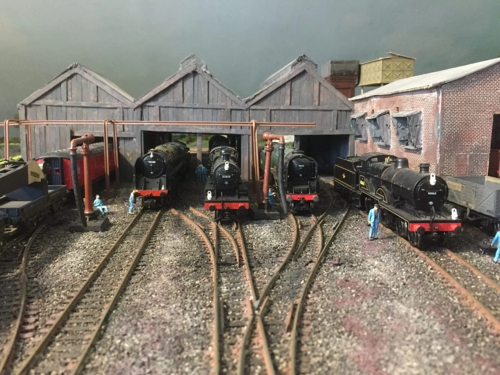 Bath Green Park model railway engine shed 00 gauge