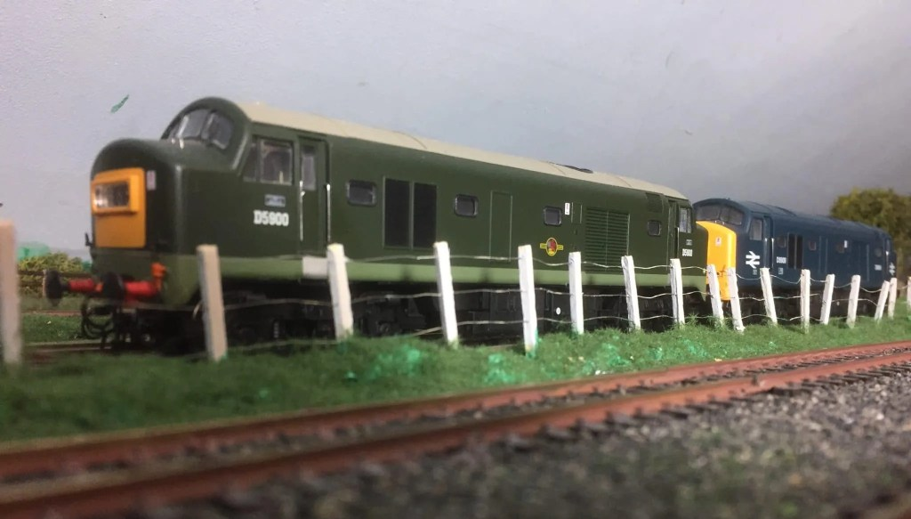 Railway model of two baby deltic