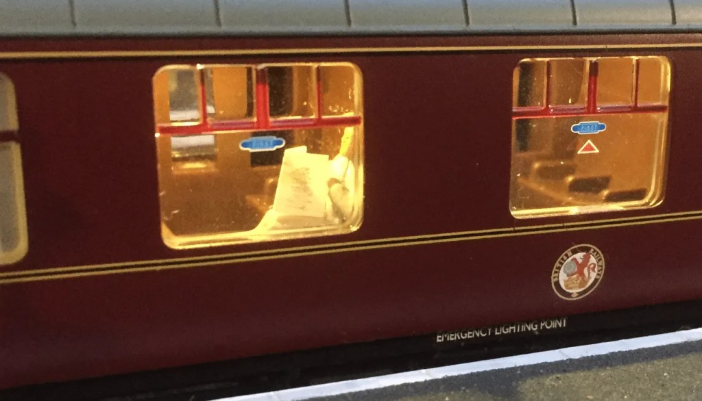 Mark 1 railway carriage typically used on British Rail trains in the 1970s