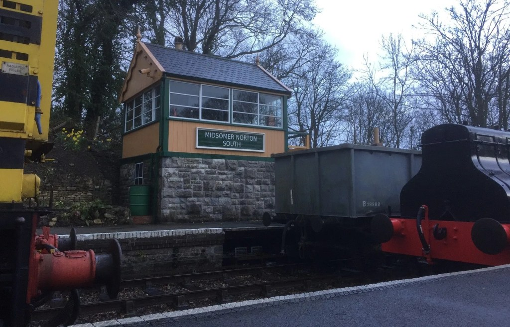Midsomer Norton signal box on the Somerset and Dorset Railway
