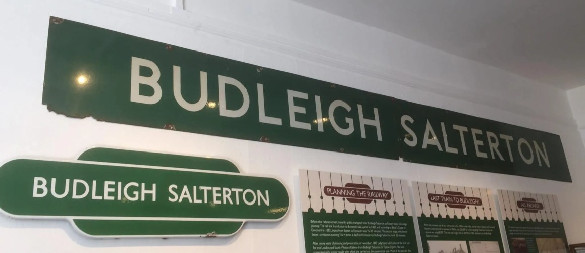 Budleigh Salterton Railway sign at the Fairlynch museum