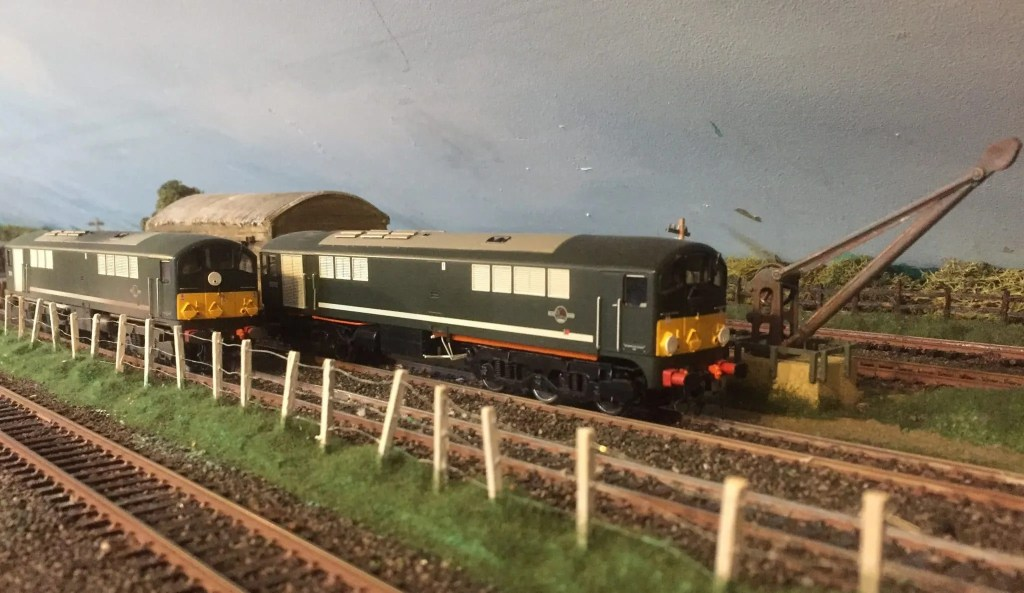 A brace of Class 28 Co-Bo locomotives on my model railway