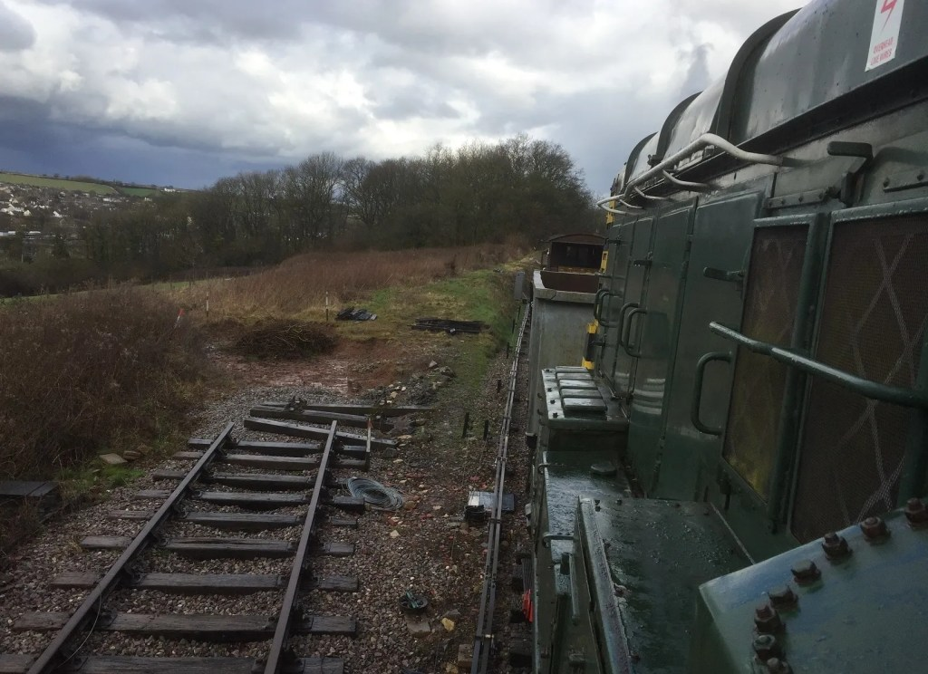 Railway Line into site of new maintenance shed - Somerset and Dorset Railway