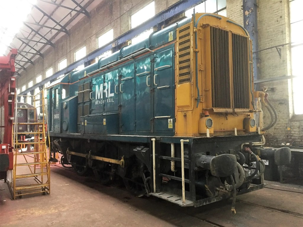 Mendip Rails Class 08 numbers 08650 in for overhaul