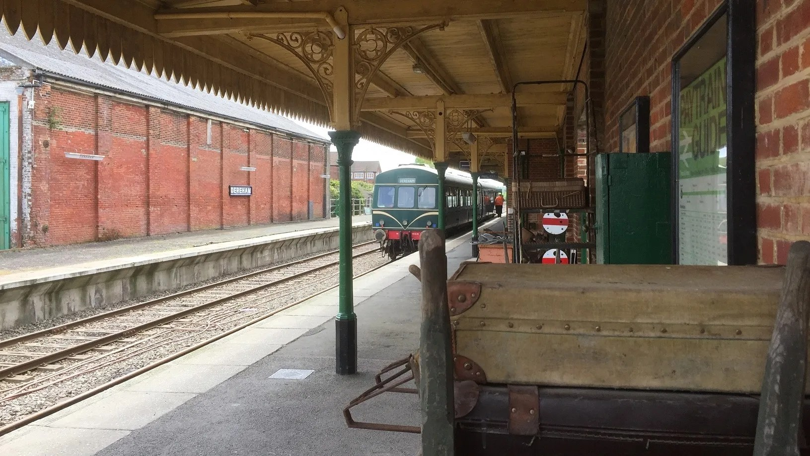 Dereham Station with many of its period features that capture the days of the 1950's and 60's rail travel